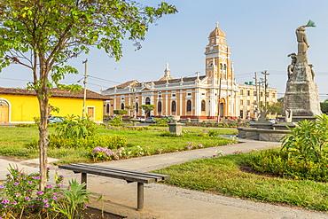 The Xalteva Church seen from Xalteva Square in Granada, Nicaragua, Central America