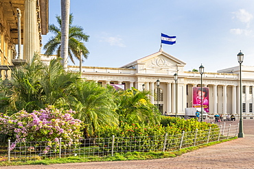 The National Palace at Revolution Square in the Nicaraguan capital Managua, Nicaragua, Central America
