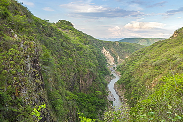 Elevated view from the third lookout over the Somoto Canyon, Nicaragua, Central America