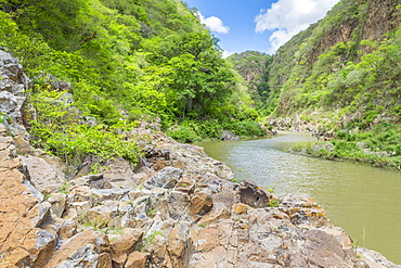 Coco River inside the Somoto Canyon, Nicaragua, Central America