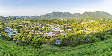 Panoramic view from a lookout over the town Somoto, Nicaragua, Central America