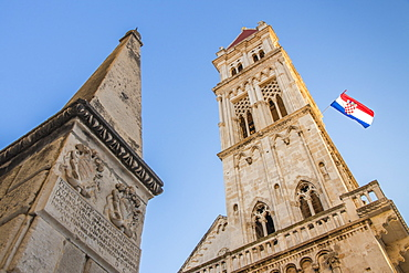 Cathedral of St. Lawrence inside the old town of Trogir, UNESCO World Heritage Site, Croatia, Europe