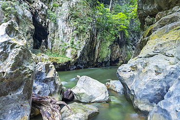 Inside the canyon El Boqueron, El Estor, Izabal, Guatemala, Central America