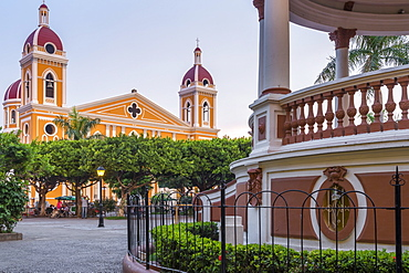 The Cathedral of Granada seen from the main square, Granada, Nicaragua, Central America
