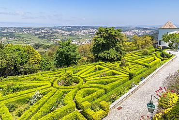 The garden of Seteais Palace near Sintra, Portugal, Europe