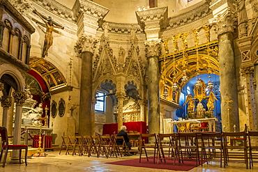 Interior of the Sveti Duje Cathedral in Split, Croatia, Europe