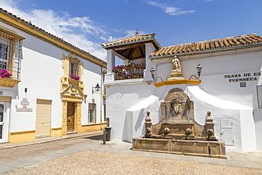 Small square (Plaza de la Fuenseca) in the San Pablo neighbourhood, Cordoba, Andalusia, Spain, Europe