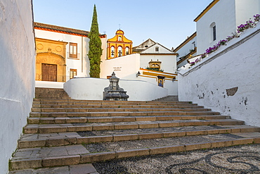 View from the Bailao Steps to the Paz y Esperanza Convent, Cordoba, Andalusia, Spain, Europe