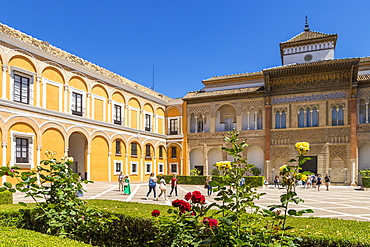 Palacio del Rey Don Pedro inside the Royal Alcazars, Seville, Andalusia, Spain, Europe