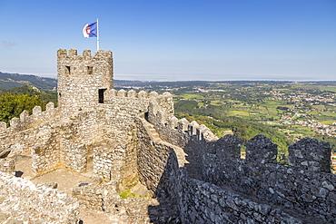 The Moorish Castle above Sintra, UNESCO World Heritage Site, Sintra, Portugal, Europe