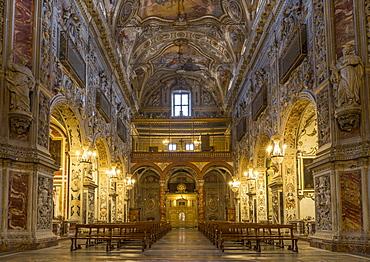 Interior of the Santa Caterina d'Alessandria Church, Palermo, Sicily, Italy, Europe