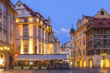 Historical buildings near the old town market square, UNESCO World Heritage Site, Prague, Bohemia, Czech Republic, Europe