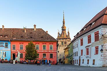 Clock Tower (Turnul cu Ceas), Sighisoara, UNESCO World Heritage Site, Mures County, Transylvania Region, Romania, Europe