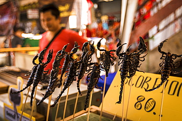Scorpions for sale in Chinatown, Chiang Mai, Thailand, Southeast Asia, Asia