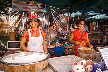 Chinatown market at Chinese New Year, Chiang Mai, Thailand, Southeast Asia, Asia