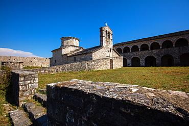 The Monastery of San Giorgio, Butrinto Lake, South coast, Albania, Europe