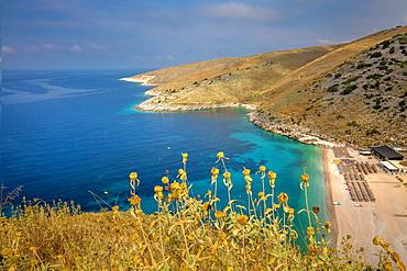 Laman Beach, Himara, South coast, Albania, Europe