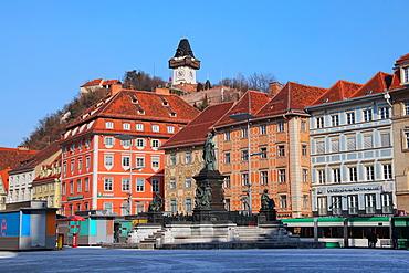 Haupt Platz, Graz, Styria, Austria, Europe