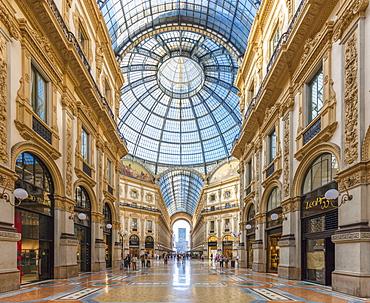 Galleria Vittorio Emanuele II, Pinacoteca di Brera, Milan, Lombardy, Italy, Europe