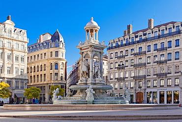 Jacobins Square, Lyon, Auvergne-Rhone-Alpes, France, Europe
