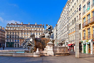 Terreaux Square, Lyon, Auvergne-Rhone-Alpes, France, Europe
