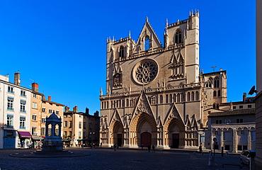 Lyon Cathedral, Lyon, Auvergne-Rhone-Alpes, France, Europe