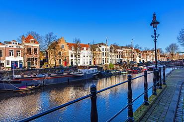 The canal along Handelskade street, Den Bosch, The Netherlands, Europe
