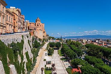 Bastione of Saint Remy, Cagliari, Sardinia, Italy, Europe