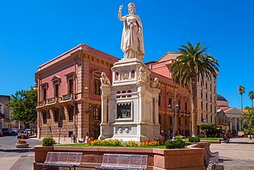 Statue of Eleanor of Arborea in Oristano, Sardinia, Italy, Europe