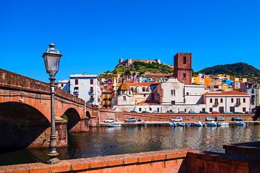 Castle of Serravalle above the Temo River of Bosa, Sardinia, Italy, Europe