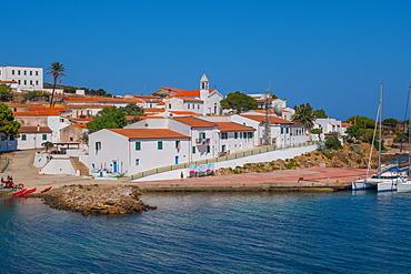 Cala d'Oliva village, Asinara Island, Sardinia, Italy, Europe