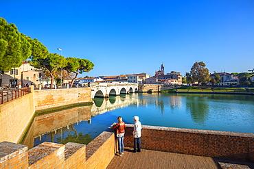 The Bridge of Tiberius, Rimini, Emilia Romagna, Italy, Europe