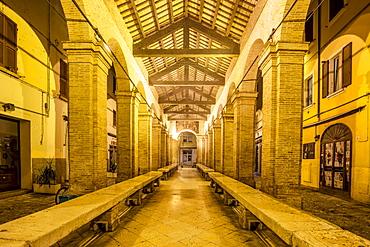 Old fish market, Rimini, Emilia Romagna, Italy, Europe
