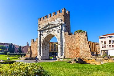 Arch of Augustus, Rimini, Emilia Romagna, Italy, Europe