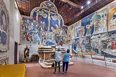 Frescos by Lorenzo and Jacopo Salimbeni da San Severino Marche dating from 1416, Urbino, Marche, Italy, Europe