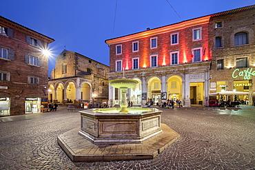 Piazza della Repubblica, Urbino, Marche, Italy, Europe