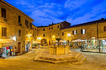 Piazza Umberto I, Panicale, Umbria, Italy, Europe