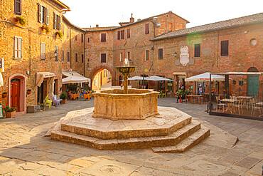 The Fontana Maggiore, Piazza Umberto I, Panicale, Umbria, Italy, Europe