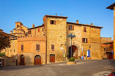 Piazza della Vittoria, Panicale, Umbria, Italy, Europe