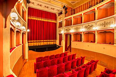 Caporali Theater, Panicale, Umbria, Italy, Europe