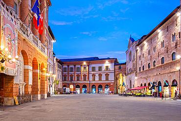 Piazza della Repubblica, Foligno, Perugia, Umbria, Italy, Europe