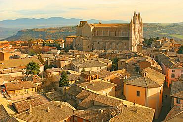 View of Orvieto from the Torre del Moro, Orvieto, Terni, Umbria, Italy, Europe