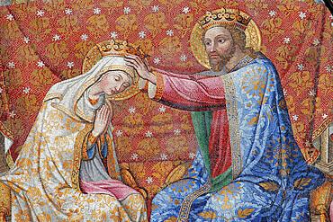 Coronation of Mary, by R. Cocchi, R.Castellini, and G. Kibel, 1842-1847, Cathedral of Santa Maria Assunta, Orvieto, Terni, Umbria, Italy, Europe