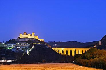 Rocca Albornoziana, Spoleto, Perugia, Umbria, Italy, Europe