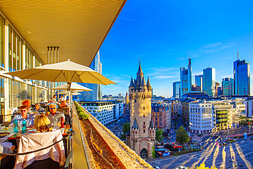 View from the Fleming's terrace, Frankfurt am Main, Hesse, Germany, Europe