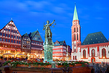 Romerberg (Old Town Square), Frankfurt, Hesse, Germany, Europe