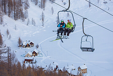 Ski lift, Alpe Devero, Val d'Ossola, Verbano Cusio Ossola, Piemonte, Italy, Europe