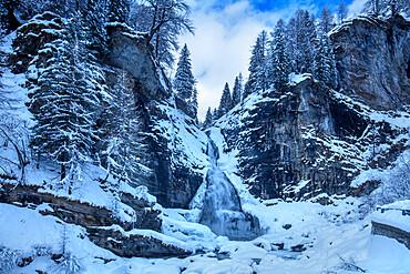 The Devil's waterfall, Alpe Devero, Val d'Ossola, Verbano Cusio Ossola, Piemonte, Italy, Europe