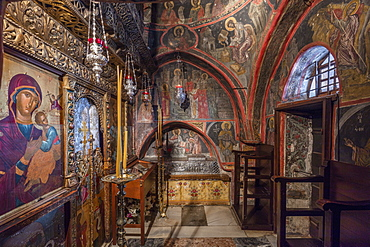 The Monastery of Saint John the Theologian, The Chapel of the Blessed Christodoulos, UNESCO World Heritage Site, Patmos, Dodecanese, Greek Islands, Greece, Europe