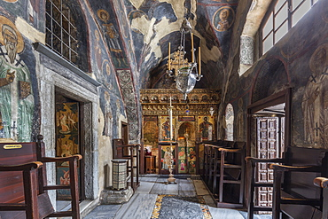 The Monastery of Saint John the Theologian, Our Lady's Chapel, UNESCO World Heritage Site, Patmos, Dodecanese, Greek Islands, Greece, Europe